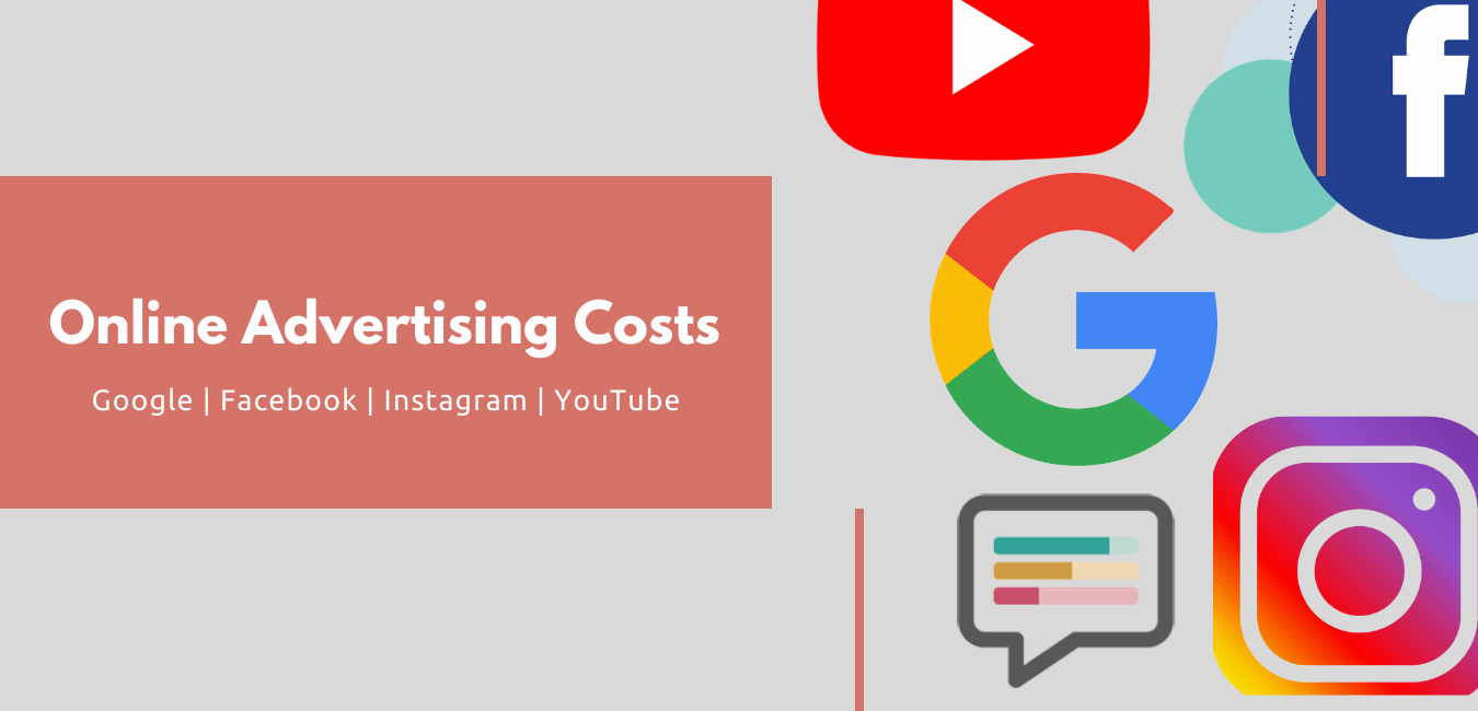 Online Advertising Costs - Google Facebook Instagram YouTube